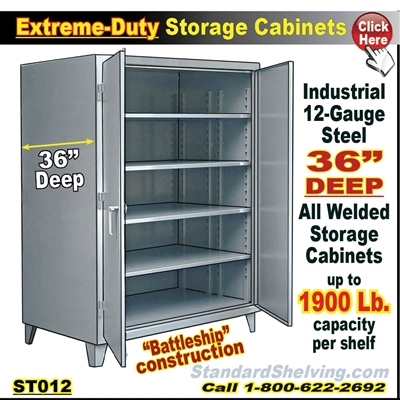 St012 Extreme Duty 36 Quot Deep Steel Storage Cabinets
