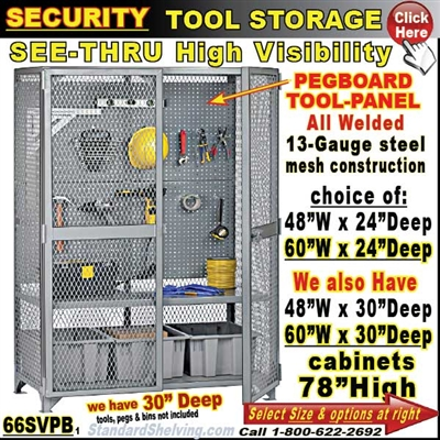 Security Tool Storage Work Cabinets