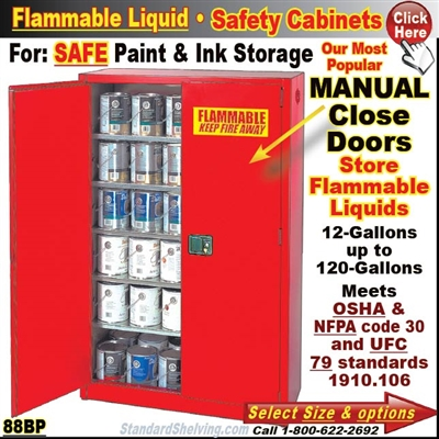 Paint And Ink Flammable Safety Cabinets