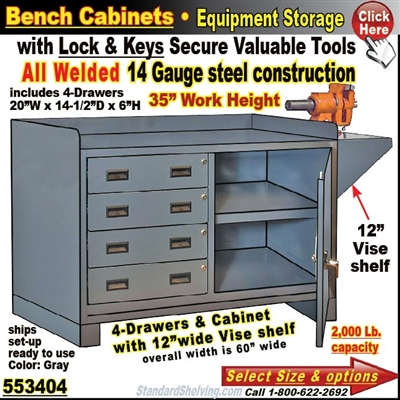 Pleasing Heavy Duty 4 Drawer Bench Storage Cabinet Gmtry Best Dining Table And Chair Ideas Images Gmtryco